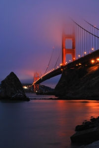 Lorraine Nilsen, Golden Gate Bridge, digital photograph, San Francisco, CA, fog