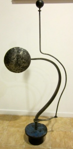 Richard and Kathleen Imlach metal sculpture, abstract metal sculpture