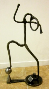 Richard and Kathleen Imlach Tread Lightly metal sculpture, figurative