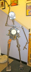 Richard and Kathleen Imlach Rita Meter Maid metal sculpture, figure, whimsical sculpture life size