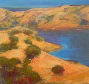 Sherie Drake New Melones Lake Sonora CA gold country foothills sierras landscape impressionist style nos