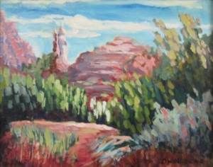 Michael Dwaileebe Sedona AZ landscape acrylic rocks impressionist