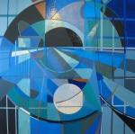 Dennis Garcia abstract acrylic hard-edge non-objective non-representational influenced by Karl Benjamin