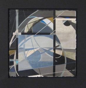 Dennis Garcia acrylic on paper abstract hard-edge non-objective non-representational influenced by Karl Benjamin