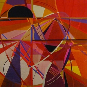 Dennis Garcia abstract non-objective non-representational stretched canvas hard-edge influenced by Karl Benjamin