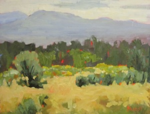 Leslie Hurst Taos New Mexico landscape plein air oil painting