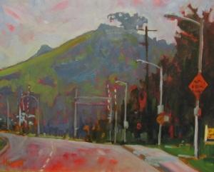 Leslie Hurst plein air landscape painting roadway