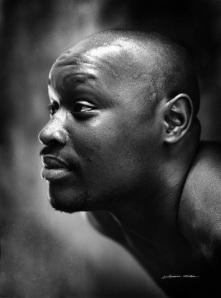 Lorraine Nilsen, John, black & white portrait, photograph