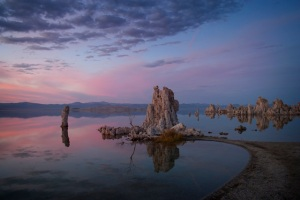 Barbara Evans Barbour color digital photography pigment ink archival quality photo sunset Mono Lake, CA