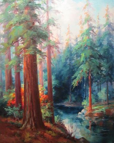 Martella Cone Lane, Redwoods, Humbolt Co.,c.1930