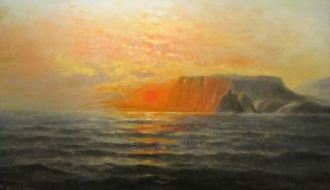 Nels Hagerup, Pacific Sunset, c.1890, oil on canvas