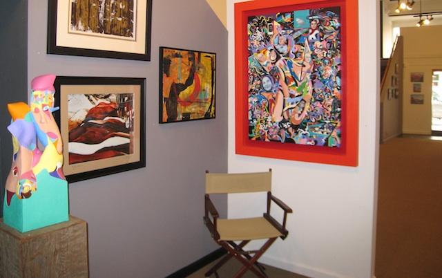 Interior Ventana Gallery, Sonora, CA, goldrush town art gallery