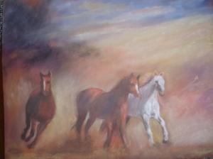 geneva davis pastel horses running