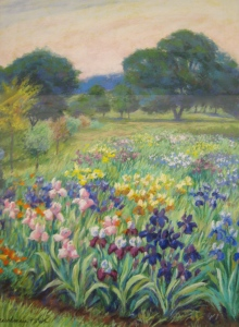 barbara beaudreau pastel landscape flowers oak trees sierra nevada