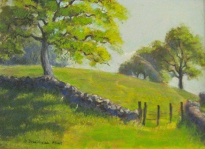 barbara beaudreau pastel landscape hills oak trees
