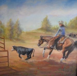 Bobbi Baldwin, Cutting the Calf, $695