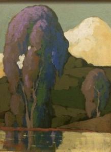 Jack Cassinetto, california plein air artist, eucalyptus style, vintage style