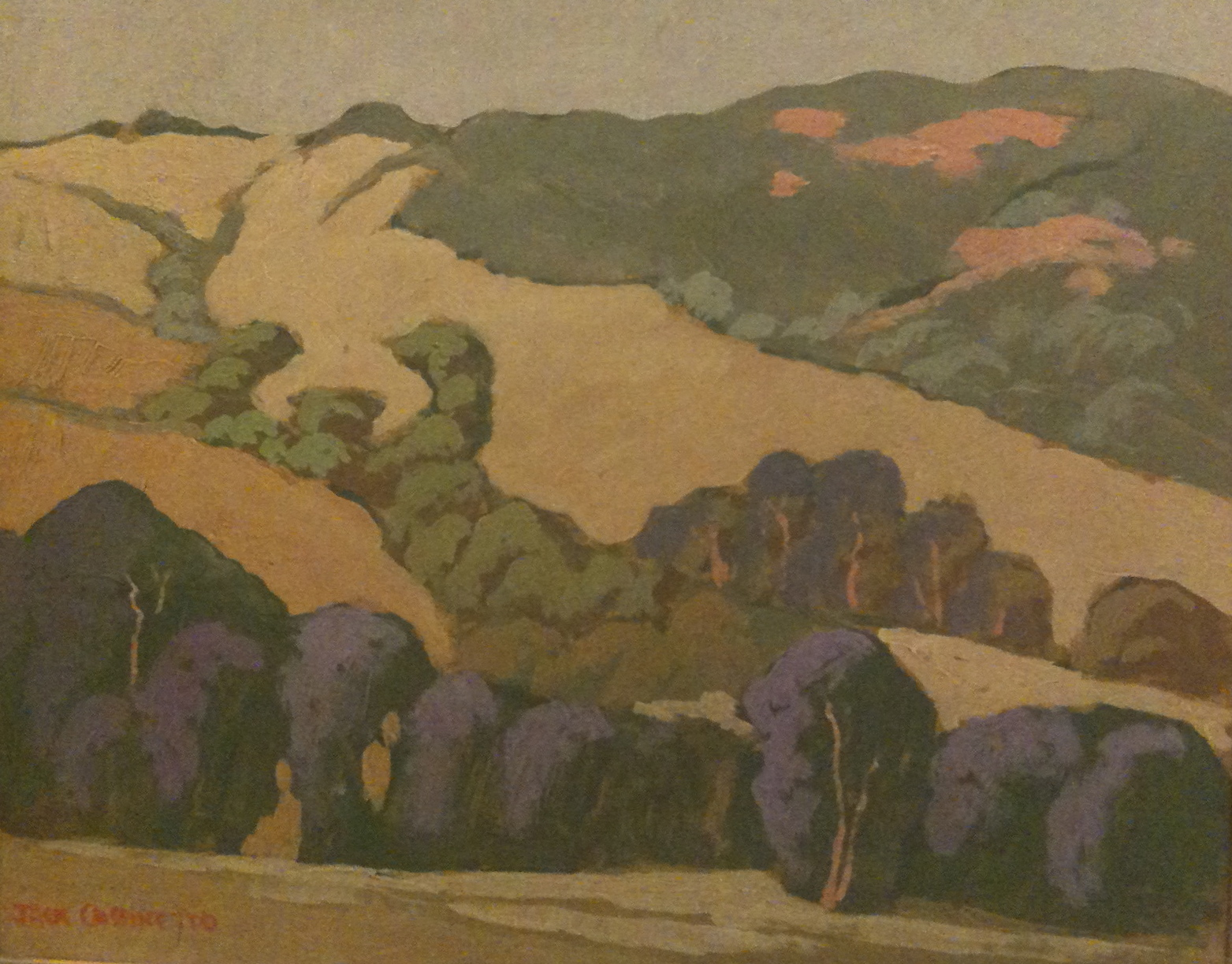 Jack Cassinetto, Hills Near Livermore, eucalyptus school, plein air