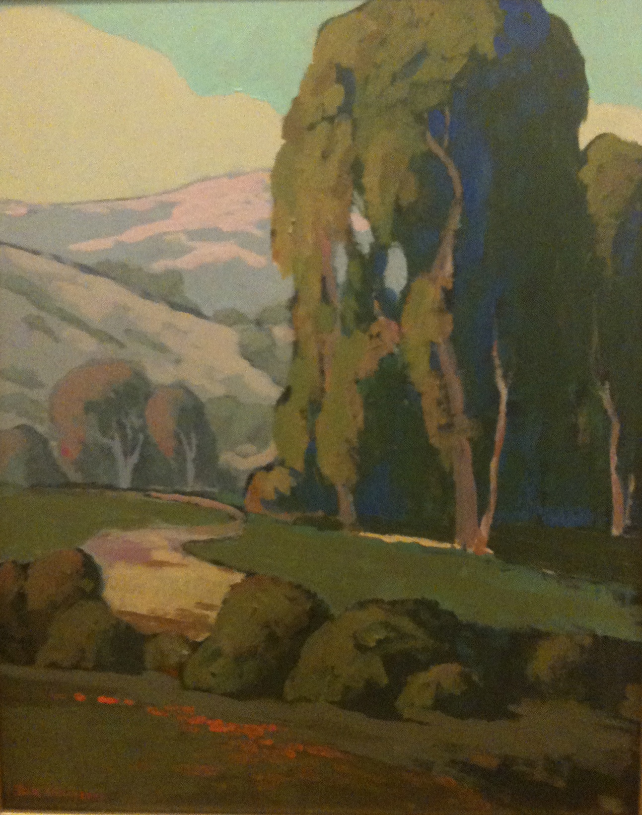 Jack Cassinetto, Eucalyptus-Novato, eucalyptus school, plein air